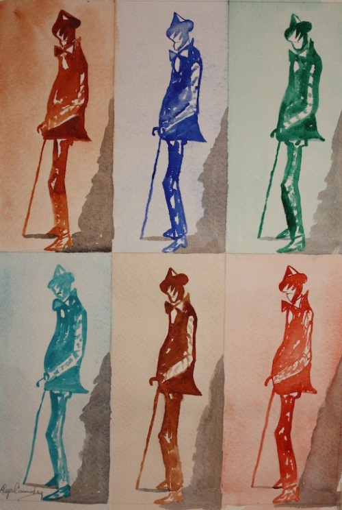 James Joyce - Roger Cummiskey, watercolor
