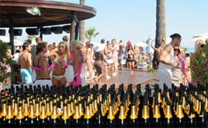 ac5a4c5251 The champagne party, hosted by the Ocean Club in Marbella ...