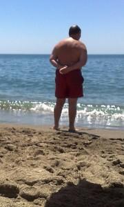 Portrait of the Artist on a Spanish beach 09