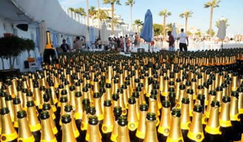 The Champagne Party at Ocean Club is legendary
